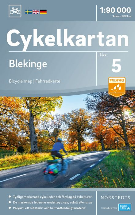 Sweden Cycling Map 05 - Blekinge